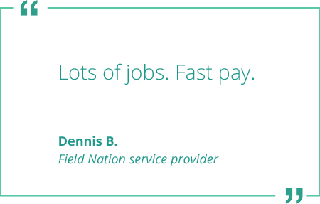 dennis b field nation service provider payment quote