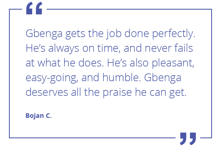 Gbenga quote from dispatcher